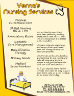 Verna's Nursing Services Flyer Template