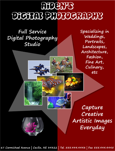 Digital Photography Flyer Template