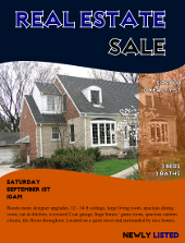 Real Estate Sale Flyer Template | FlyerTutor.com