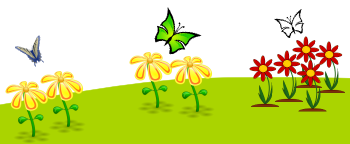 Inkscape Rotated Butterflies on Flowers