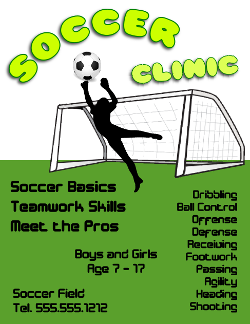Soccer Clinic Flyer Template
