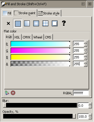 Inkscape Fill & Stroke Window - Stroke Paint Tab