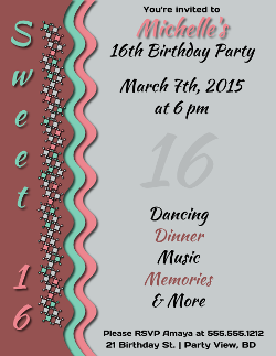 Sweet Birthday Party Invitation Flyer Template Created With - Birthday party invitation flyer template