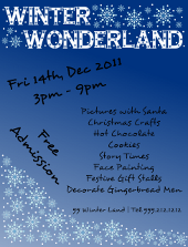 Winter Wonderland Flyer Template | FlyerTutor.com