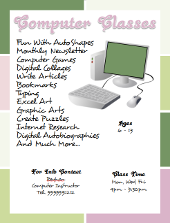Computer Classes Flyer Template | FlyerTutor.com