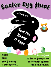 Easter Egg Hunt Flyer 2 Tutorial | FlyerTutor.com