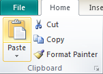 Microsoft Publisher 2010 Clipboard Group Paste Icon