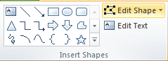 Microsoft Publisher 2010 Insert Shapes Group Edit Shape