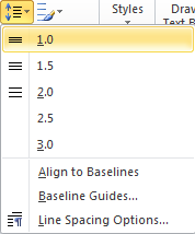 Microsoft Publisher 2010 Line Spacing