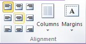 Microsoft Publisher 2010 Alignment Group Align Center Icon