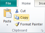 Microsoft Publisher 2010 Clipboard Group Copy