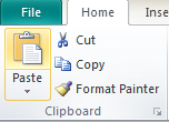 Microsoft Publisher 2010 Clipboard Group Paste