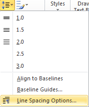 Microsoft Publisher 2010 Line Spacing Options