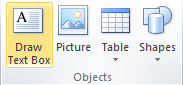 Microsoft Publisher 2010 Objects Group Text Box Icon
