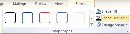 Microsoft Publisher 2010 Shape Outline Icon