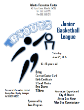 Basketball Tryouts Flyer Template | FlyerTutor.com