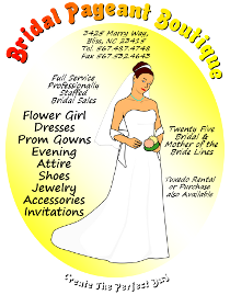 Bridal Pageant Boutique Flyer Template for Inkscape, Microsoft Word