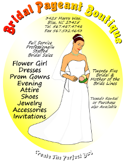 Bridal Pageant Boutique Flyer made with Microsoft Word 2007