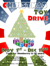 Christmas Toy Drive Flyer Template 3 | FlyerTutor.com
