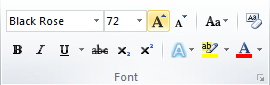 Microsoft Word Font Group