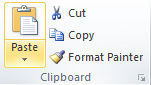 Microsoft Word Clipboard Group - Paste
