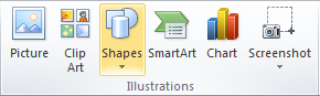 Microsoft Word Illustrations Group - Shapes