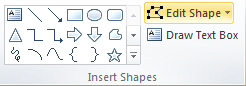 Microsoft Word Insert Shapes Group - Edit Shape