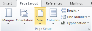 Microsoft Word Page Layout Tab - Page Setup Group