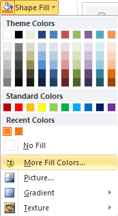Microsoft Word Shape Fill - More Fill Colors