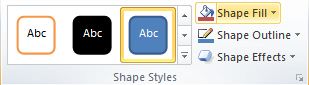 Microsoft Word Shape Styles Group - Shape Fill