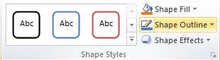 Microsoft Word Shape Styles Group - Shape Outline