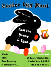 Easter Egg Hunt Flyer Tutorial 2 | FlyerTutor.com