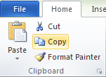 Microsoft Word 2010 Clipboard Group Copy