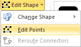 Microsoft Word 2010 Edit Shape Points