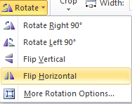 Microsoft Word 2010 Rotate Flip Horizontal