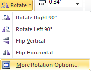 Microsoft Word 2010 Rotate More Options