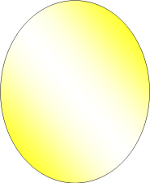 Microsoft Word 2007 Gradient Filled Yellow and White Oval