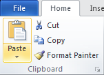 Microsoft Word 2010 Clipboard Group - Paste