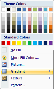 Microsoft Word 2007 Color Menu