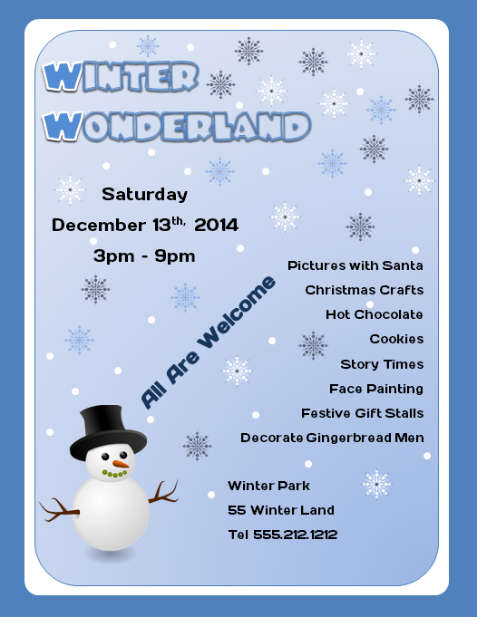 Winter Wonderland Flyer Template 2