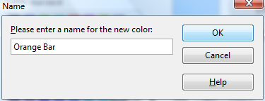 OpenOffice Draw Color Name Window