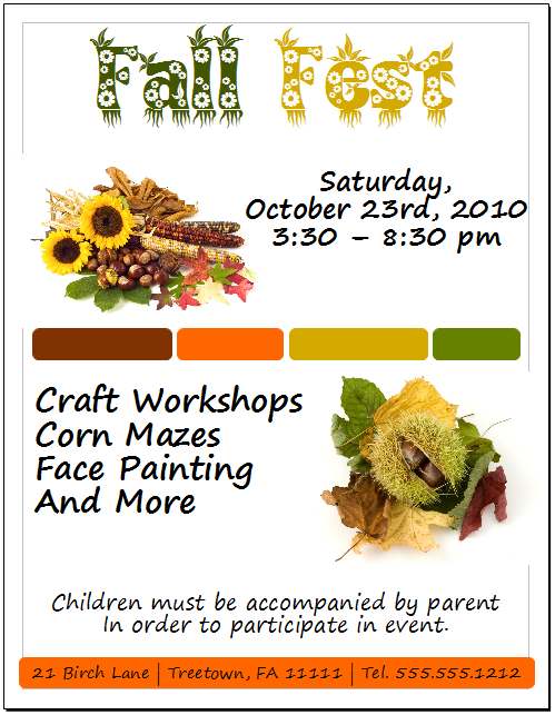 OpenOffice Draw Fall Fest Flyer