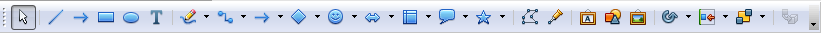 OpenOffice Draw Drawing Toolbar