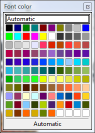 OpenOffice Draw Font Color Window