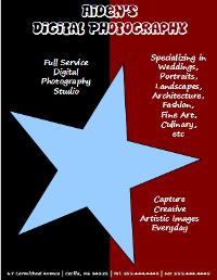 OpenOffice Draw Digital Photography Flyer Text and Star