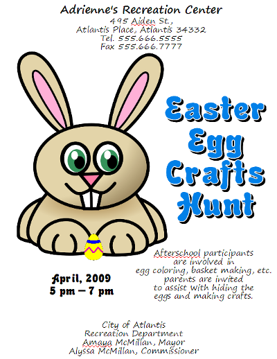 OpenOffice Draw Easter Egg Hunt Flyer