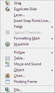 OpenOffice Draw Menu