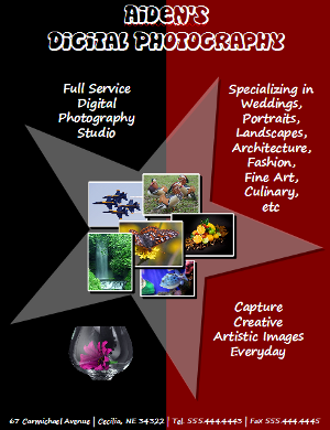 OpenOffice Draw Digital Photography Flyer