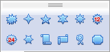 OpenOffice Draw Star Menu