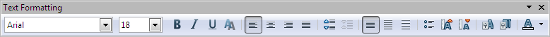 OpenOffice Draw Formatting Toolbar